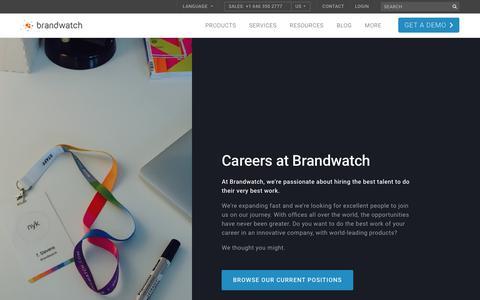 Careers | Brandwatch