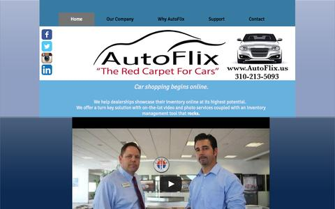 Screenshot of Home Page autoflix.us - autoflix1 - captured Sept. 30, 2014