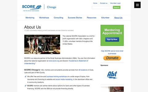 Screenshot of About Page scorechicago.org - About SCORE Chicago - captured Aug. 15, 2017