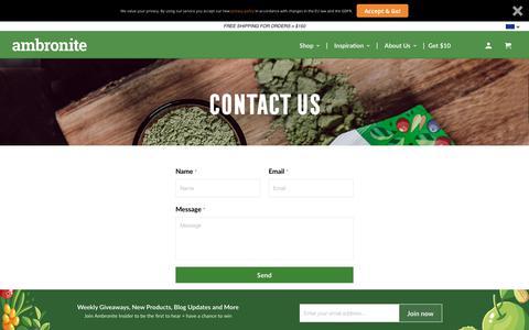 Screenshot of Contact Page ambronite.com - Contact Us - Ambronite US - captured May 5, 2019