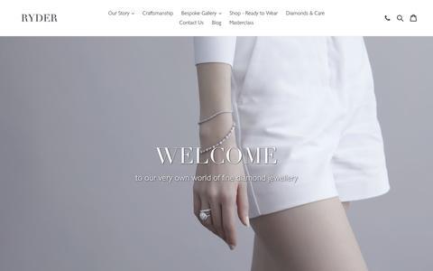 Screenshot of Home Page ryderdiamonds.com - Ryder Diamonds Hong Kong                       – ryderdiamonds - captured Oct. 20, 2018