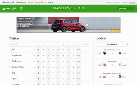 tabela   brasileirão série b   GloboEsporte.com