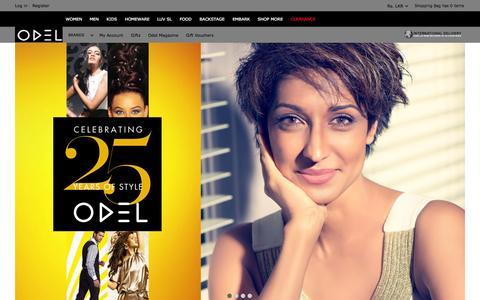 Screenshot of Home Page odel.lk - Online Fashion Store – ODEL Sri Lanka – Women's Clothing & Menswear - captured Sept. 19, 2014