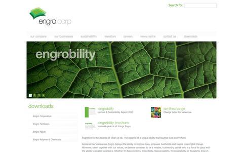 Screenshot of Home Page engro.com - Engro Corp - captured Sept. 19, 2014