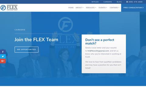 Screenshot of Jobs Page flexcollegeprep.com - Careers | FLEX College Prep - captured Feb. 10, 2019