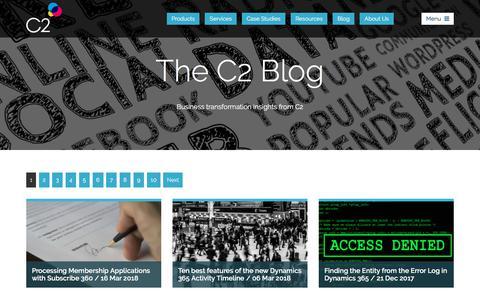 Screenshot of Blog c2software.com - The C2 Blog - Business Transformation Insights - captured July 14, 2018
