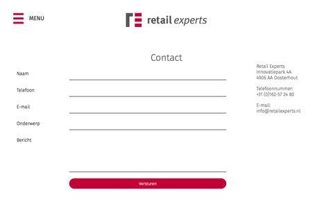 Screenshot of Contact Page retailexperts.nl - Contact | Retail Experts - captured Nov. 10, 2017