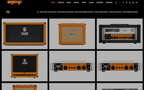 Screenshot of Products Page orangeamps.com - Orange Amps |   Products - captured Jan. 20, 2016