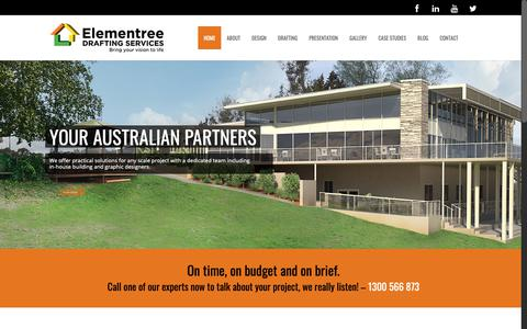Screenshot of Home Page elementreedrafting.com.au - Drafting Services Sydney - captured May 1, 2019