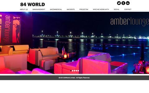 Screenshot of Home Page 84world.com - 84 WORLD LIMITED - captured Sept. 30, 2014