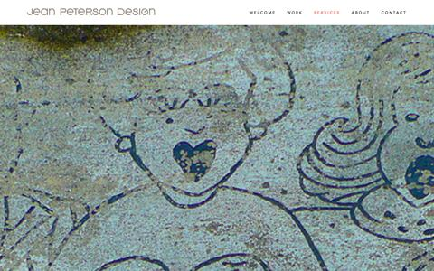 Screenshot of Services Page jeanpetersondesign.com - Our Services Ń Jean Peterson Design - captured Dec. 21, 2015