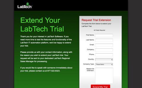 Screenshot of Landing Page labtechsoftware.com - LabTech Software   LabTech Trial Experience - captured Sept. 7, 2017