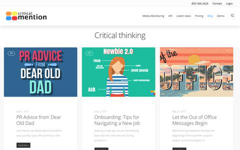Critical Thinking - Critical Mention - Media Monitoring
