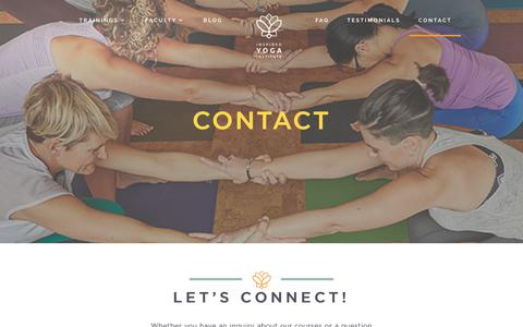 Screenshot of Contact Page inspiredyogainstitute.com - Contact - Inspired Yoga Institute - captured Sept. 19, 2018
