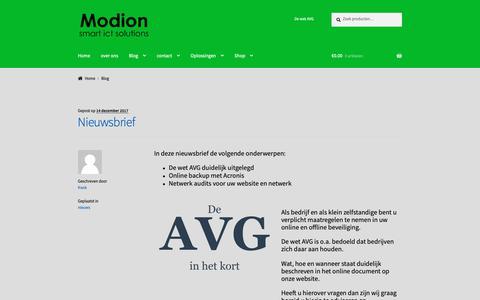 Screenshot of Blog modion.com - Blog - Modion smart ict solutions - captured Oct. 19, 2018
