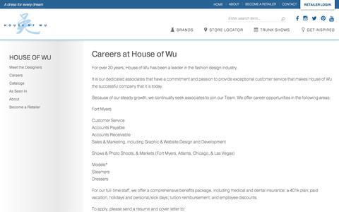 Screenshot of Jobs Page houseofwu.com - Careers - House of Wu - captured July 22, 2018