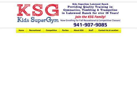 Screenshot of Contact Page kidssupergym.info - Kids SuperGym - Lakewood Ranch, Gymnastics, Tumbling, Trampoline - captured Oct. 6, 2014