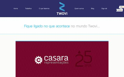 Screenshot of Blog twovi.com.br - Twovi - E-commerce Design, Webdesign, Branding e Templates - captured Sept. 26, 2014