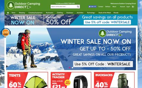 Screenshot of Home Page outdoorcampingdirect.uk - Outdoor Camping Equipment Sale  | Outdoorcampingdirect - captured Jan. 22, 2017