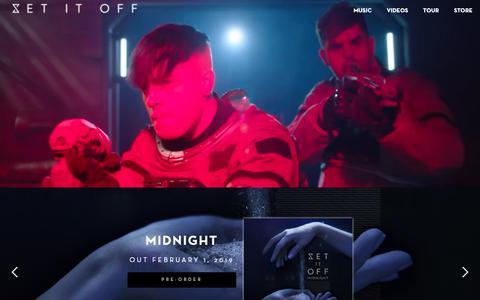 Screenshot of Home Page setitoffband.com - Set It Off - Midnight - captured Nov. 28, 2018