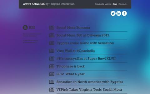 Screenshot of Blog crowdactivation.com - Crowd Activation - Blog - captured Sept. 30, 2014