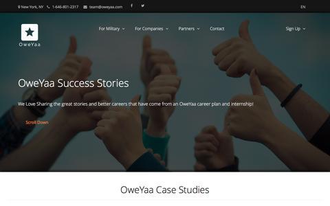 Screenshot of Case Studies Page oweyaa.com - Case Studies - captured Dec. 17, 2016