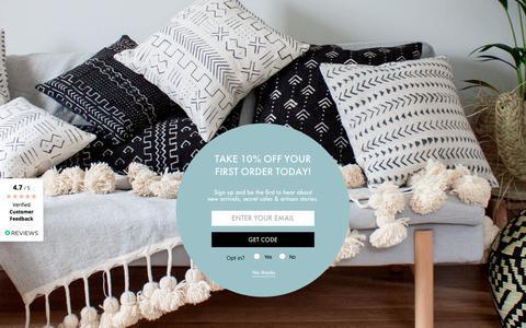Screenshot of Home Page bohemiadesign.co.uk - Bohemia Design - Contemporary and Ethical Global Bohemian Lifestyle - captured Nov. 6, 2018
