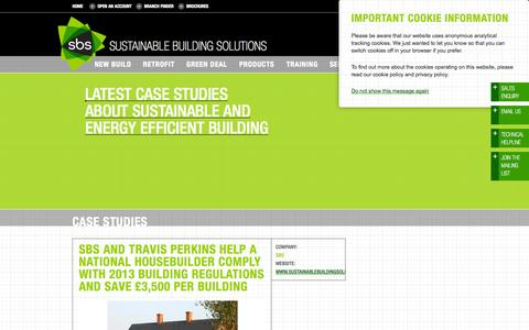 Screenshot of Case Studies Page sustainablebuildingsolutions.co.uk - Case Studies | Sustainable Building Solutions - captured Oct. 3, 2014