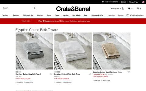 Egyptian Cotton Bath Towels   Crate and Barrel