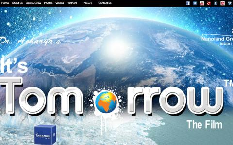 Screenshot of Home Page itstomorrow.us - It's Tomorrow - captured Oct. 6, 2014