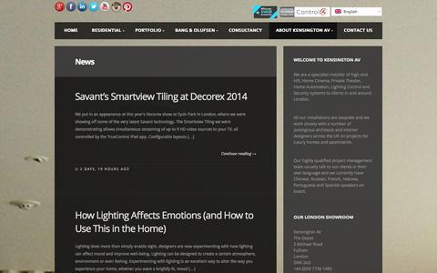 Screenshot of Press Page kensingtonav.com - News, Latest Products and Projects, Blogs - Kensington AV - captured Oct. 6, 2014