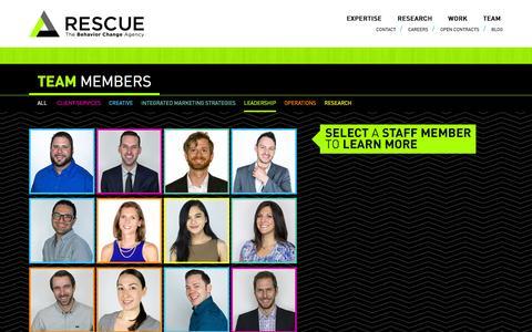 Screenshot of Team Page rescuescg.com - Team - Rescue - captured Feb. 5, 2016