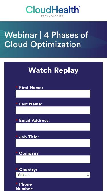 Webinar | 4 Phases of Cloud Optimization