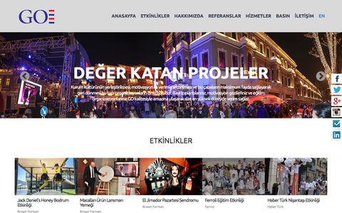 Screenshot of Home Page globalorganizasyon.com.tr - Global Organizasyon - captured Dec. 10, 2015