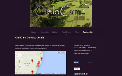 Screenshot of Contact Page tallow.com.au - Contact Us - captured Oct. 9, 2014