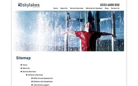 Screenshot of Site Map Page skylakes.co.uk - Sitemap | Skylakes Social Work - captured Oct. 4, 2014