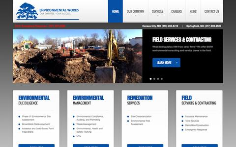 Screenshot of Home Page environmentalworks.com - Environmental Works | Our Expertise. Your Success. - captured Oct. 2, 2014