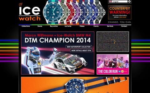 Screenshot of Home Page ice-watch.com - Ice-Watch - Official Website of the watch brand - captured Sept. 22, 2014