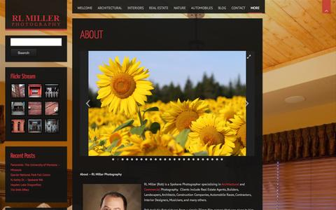 Screenshot of About Page rlmillerphoto.com captured Oct. 26, 2014