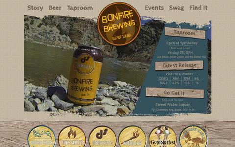Screenshot of Home Page bonfirebrewing.com - Home - Bonfire BrewingBonfire Brewing - captured Sept. 30, 2014