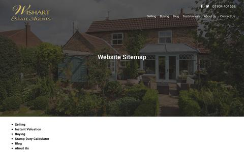 Screenshot of Site Map Page wishartestateagents.co.uk - Wishart Estate Agents, Estate & Letting Agents Site Map - captured June 14, 2017