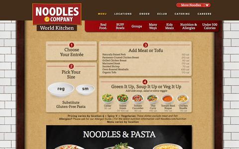 Screenshot of Menu Page noodles.com - Noodles & Company: Menu - captured Nov. 24, 2015
