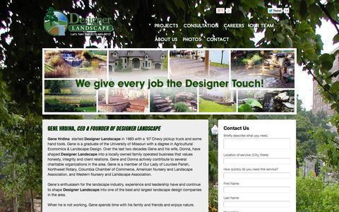 Screenshot of Team Page designerlandscape.com - Designer Landscape - captured Sept. 30, 2014