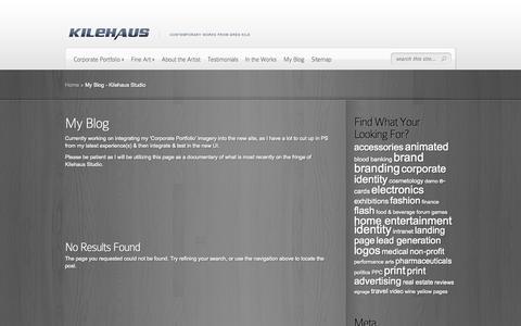 Screenshot of Blog kilehaus.com - My Blog - Kilehaus Studio - captured Oct. 6, 2014