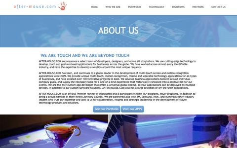 Screenshot of About Page Locations Page after-mouse.com - AFTER-MOUSE.COM - Innovation - Custom Software Development - captured Oct. 22, 2014