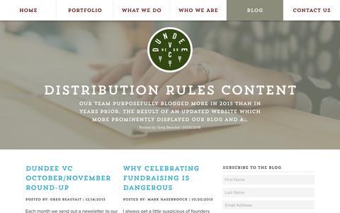 Screenshot of Blog dundeeventurecapital.com - Dundee Venture Capital |  Blog - Dundee Venture Capital - captured Jan. 8, 2016