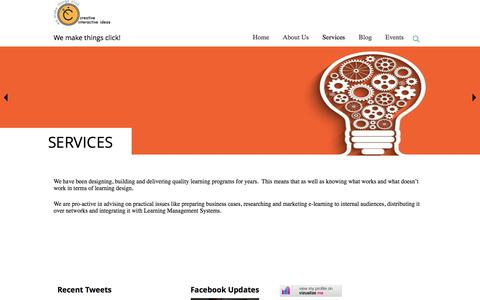 Screenshot of Services Page cre8iveii.com - Services – Creative Interactive ideas - captured Nov. 13, 2016
