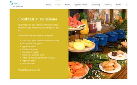 Screenshot of Services Page apartotel-lasabana.com - Services and Amenities at Apartotel La Sabana - captured Oct. 8, 2017