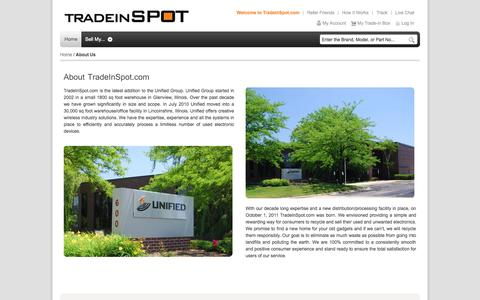 Screenshot of About Page tradeinspot.com - About Us | TradeinSPOT.com - captured Oct. 7, 2014