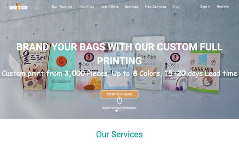 Screenshot of Testimonials Page sinowaypouchstation.com - Custom Printed Pouches - Brand Your Bags | Sinoway Pouch Station - captured July 9, 2018
